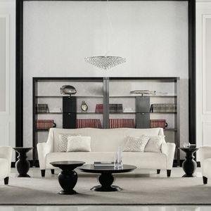 Art Deco sofa / velvet / wooden / for hotel