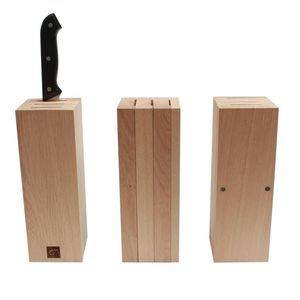 oak knife block