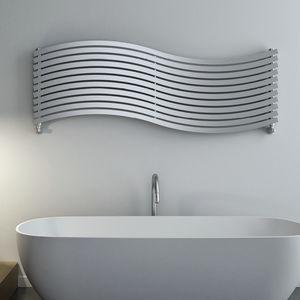 hot water radiator / steel / contemporary / bathroom