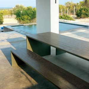 garden bench / contemporary / stone