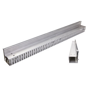 stainless steel drainage channel / galvanized steel / side-slotted / corner