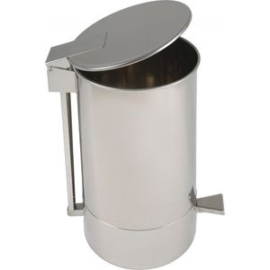 kitchen trash can / stainless steel / commercial / foot-operated