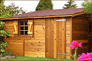 red cedar garden shed