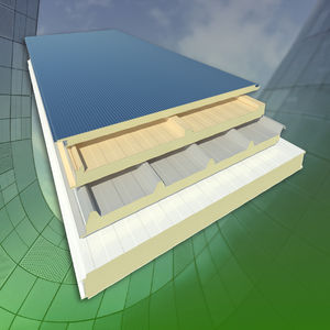 roof sandwich panel / facade / for interior / 2 metal faces