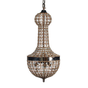 traditional chandelier / glass / copper / incandescent