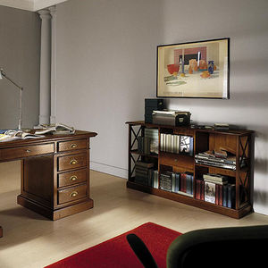 low bookcase / traditional / wooden