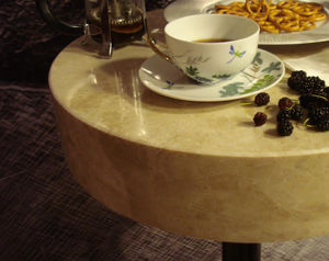 contemporary table / marble / travertine / rectangular