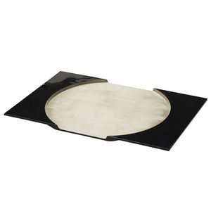 lacquered wood placemat