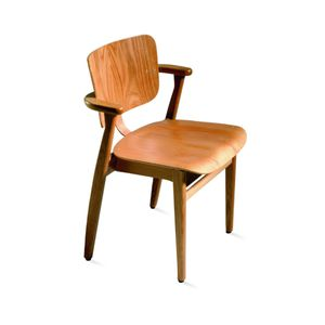 traditional chair / with armrests / stackable / oak