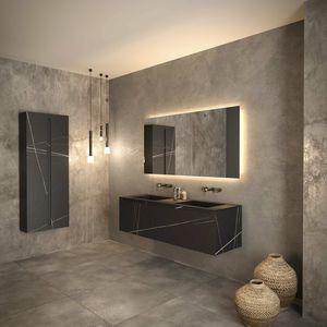 wall-mounted washbasin cabinet / ceramic / melamine / Solid Surface