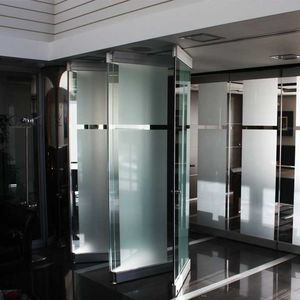 folding partition / aluminum / glass / professional