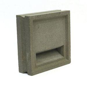 hollow concrete block / decorative / for walls / for partition walls