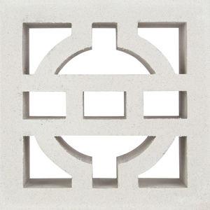 hollow concrete block / decorative / for facade / for walls