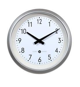 contemporary clocks / analog / wall-mounted / aluminum