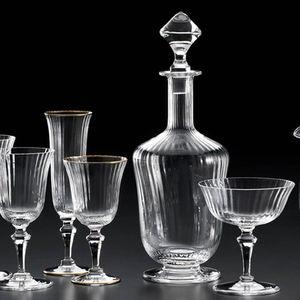 blown glass decanter / for gourmet restaurants