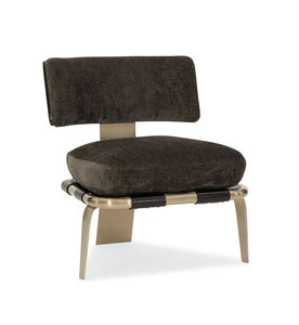 contemporary chair / upholstered / 3-legged / cushion