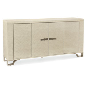 traditional sideboard / lacquered wood / lacquered metal / with shelf