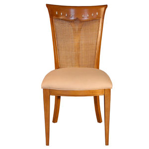 traditional chair / upholstered / oak / fabric