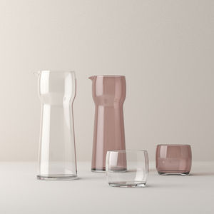 blown glass pitcher
