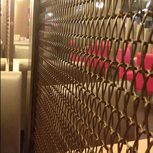 partition wall woven wire fabric / iron / twisted / decorative
