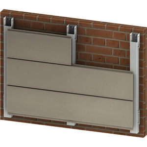 aluminum ventilated facade / smooth / with fastener