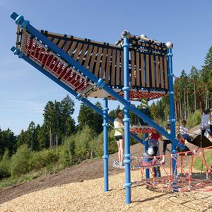 playground climbing structure / with trampoline