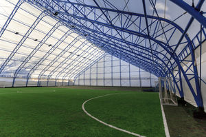 metal frame tensile structure / with PVC membrane / for special events / for stadiums