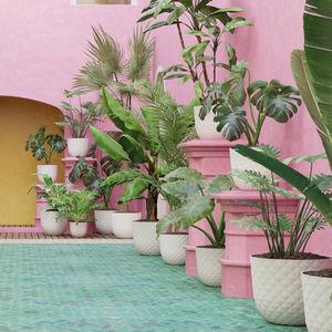 polypropylene garden pot / round / home