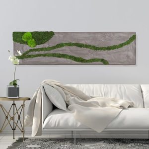 preserved living frame / moss / natural / in lichen