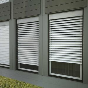 Venetian blinds / aluminum / outdoor / commercial