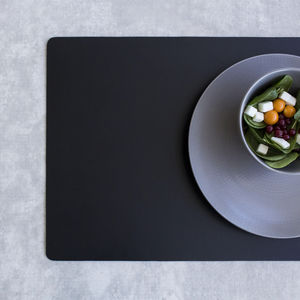 synthetic leather placemat / for restaurants