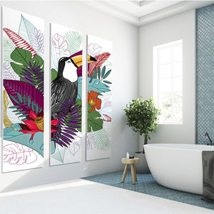 cover decorative panel / PVC / wall-mounted / for kitchens
