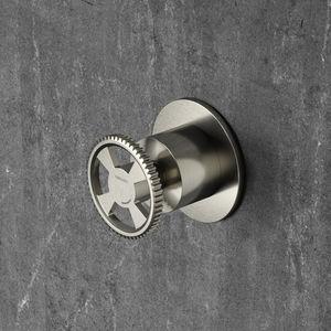 built-in shut-off valve / brass / bathroom / 1-hole