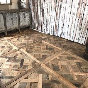 Engineered Parquet Floor Glued Antique Reclaimed