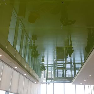 glass suspended ceiling