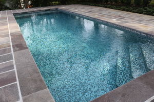 in-ground swimming pool / composite / steel / mosaic
