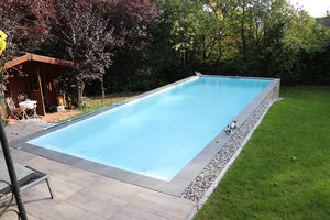 one-piece swimming pool / in-ground / composite / for hotel