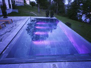 polymer block swimming pool