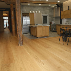 engineered parquet floor / floating / oak / oiled