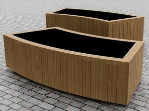 oak planter / hardwood / larch / curved