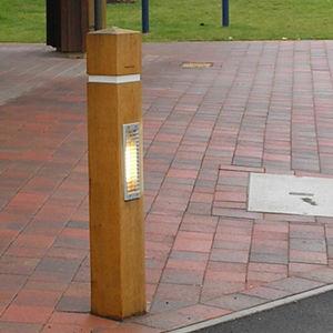 garden bollard light / for public spaces / contemporary / cast aluminum