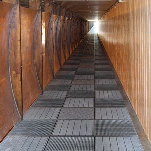 galvanized steel grating / for walkways / for exterior flooring / for staircases