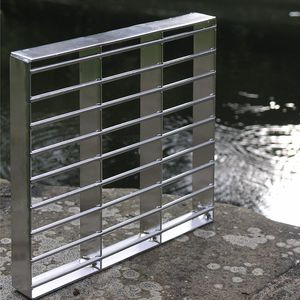 stainless steel grating / for walkways / for industrial flooring / for exterior flooring