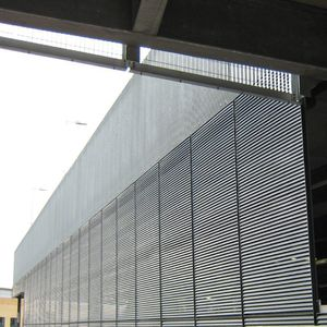 louvered screening / galvanized steel