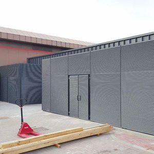 louvered screening / galvanized steel / painted steel