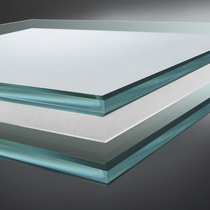 laminated glass panel / safety / sun protection / patterned
