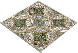 cover decorative panel / glass / wall-mounted / for interior