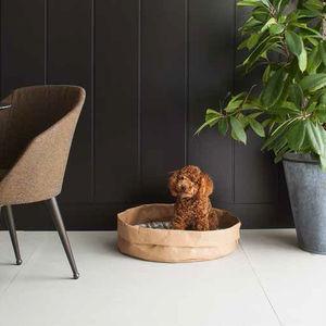 cellulose fiber dog basket / with removable cushion / machine washable