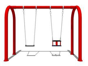 steel swing / galvanized steel / playground / double