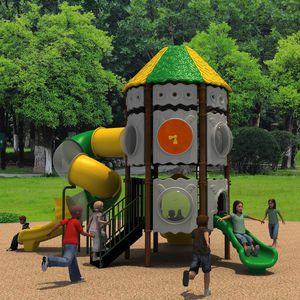 public entity play structure / for public buildings / plastic / aluminum